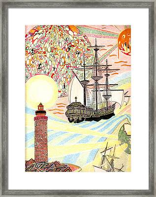 Framed Print featuring the painting Travel To The Childhood by Yury Bashkin
