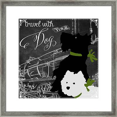 Travel With Your Dog Framed Print by Mindy Sommers