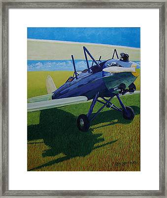 Travelair In The Sun Framed Print by Ron Smothers