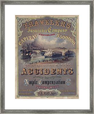 Travelers Insurance Company Advertising Framed Print by Everett