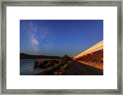Framed Print featuring the photograph Traveling At The Speed Of Light by Cat Connor
