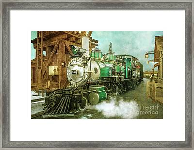 Traveling By Train Framed Print by Claudia Ellis