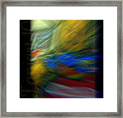 Traveling In A Different Time Framed Print