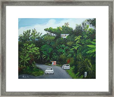 Traveling In Adjuntas Mountains Framed Print