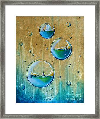 Traveling In Circles Framed Print by Cindy Thornton