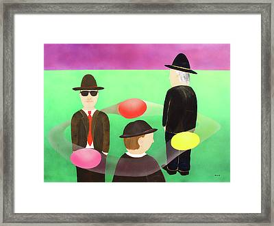 Traveling In The Right Business Circles Framed Print