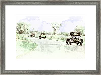 Traveling Light Framed Print by John Anderson