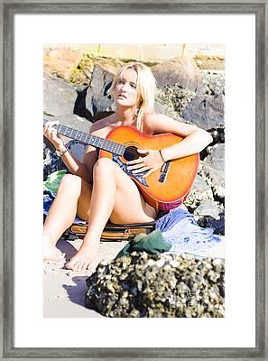 Traveling Musician Framed Print
