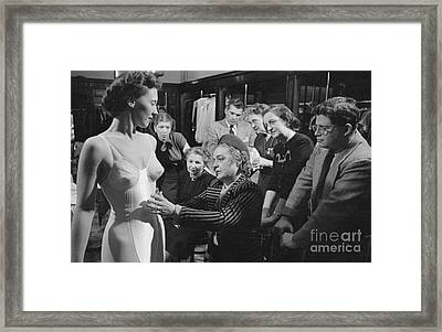 Traveling Saleswoman Framed Print by The Harrington Collection