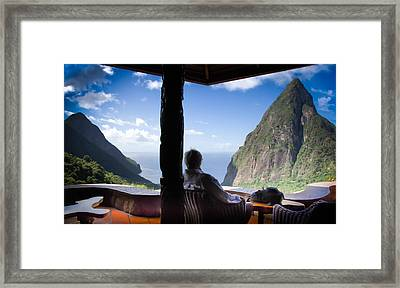 Traveling Thoughts Framed Print by Karen Wiles