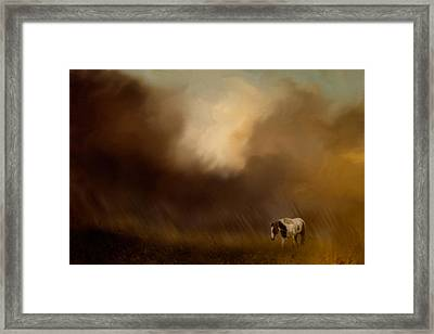 Traveling Through The Storm Framed Print by Jai Johnson