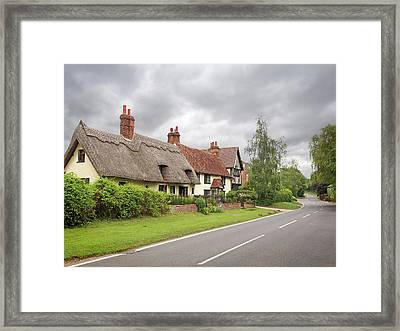 Travellers Delight - English Country Road Framed Print by Gill Billington