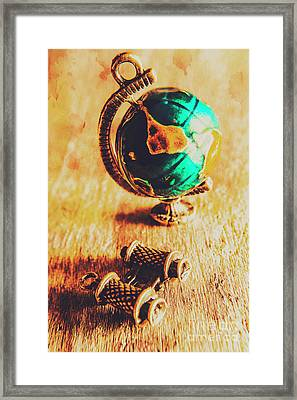 Travellers Globe Framed Print by Jorgo Photography - Wall Art Gallery