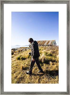 Travelling Man Touring Australia Framed Print