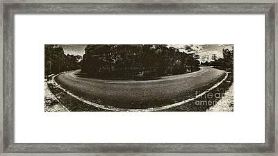 Travelling The Old Bend Framed Print