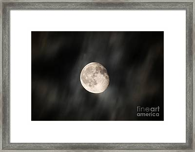 Travelling With Moon Framed Print by Manjot Singh Sachdeva