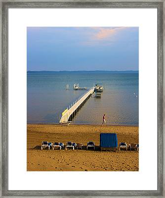 Traverse City East Bay Framed Print by Don  Vella