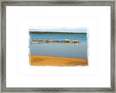Traverse City East Bay II Framed Print by Don  Vella