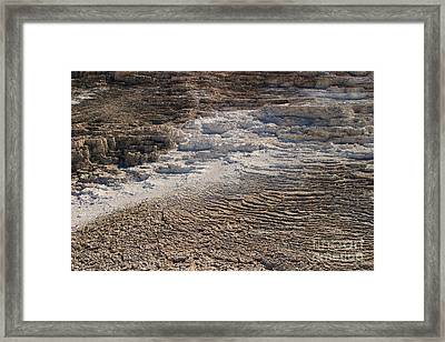 Framed Print featuring the photograph Travertine Stairsteps by Charles Kozierok