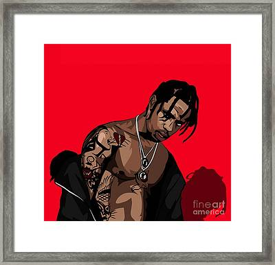 Travis Scott Framed Print
