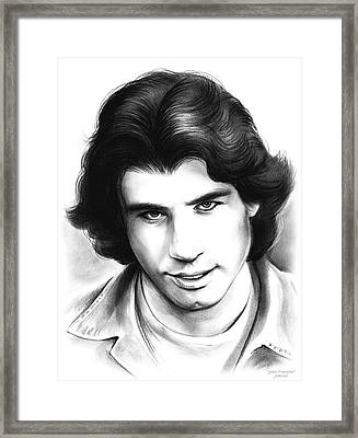 Travolta Framed Print by Greg Joens