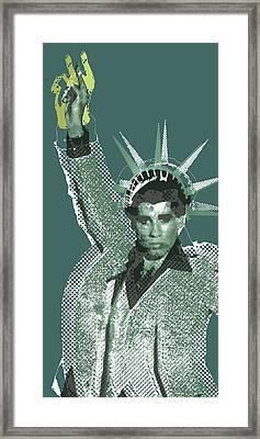 Travolta Liberty Framed Print