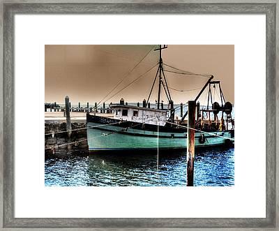 Trawler Bristol Ri Framed Print