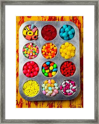 Tray Full Of Candy Framed Print