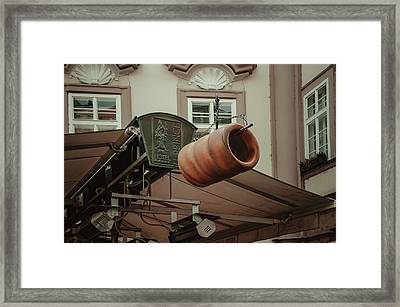 Framed Print featuring the photograph Trdelnik. Prague Architecture by Jenny Rainbow