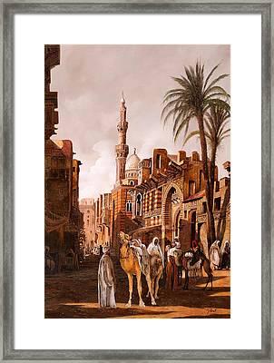 tre cammelli in Egitto Framed Print