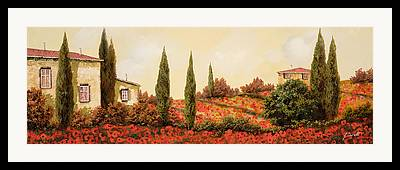 Outdoors Paintings Framed Prints
