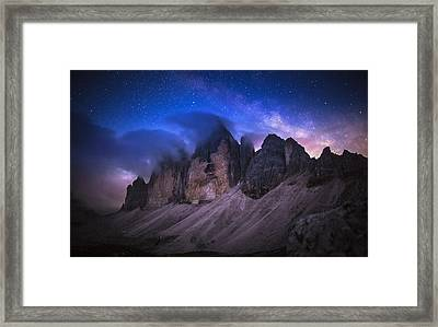 Tre Cime De Lavaredo At Night Framed Print by Dr. Nicholas Roemmelt