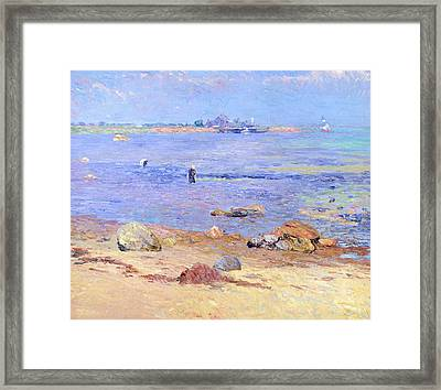 Treading Clams At Wickford Framed Print