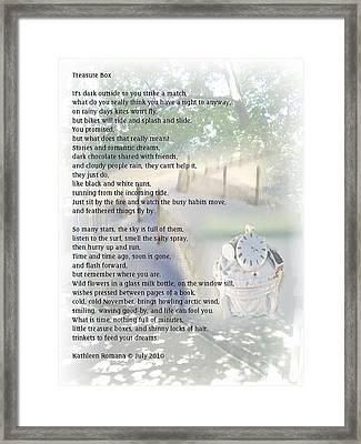Treasure Box Framed Print by Kathleen Romana