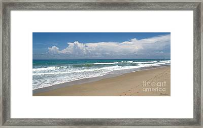 Treasure Coast Beach Florida Seascape C4 Framed Print by Ricardos Creations