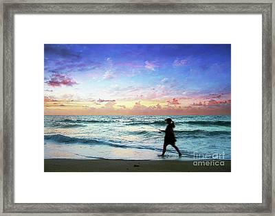 Treasure Coast Florida Seascape Dawn D6 Framed Print