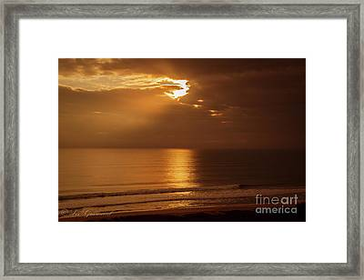 Treasure  Coast Sunrise Framed Print