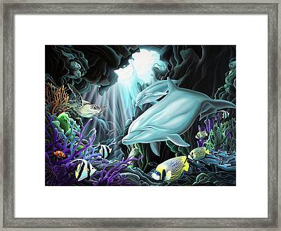 Treasure Hunter Framed Print