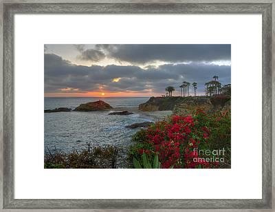 Treasure Island Beach Shoreline Framed Print by Eddie Yerkish