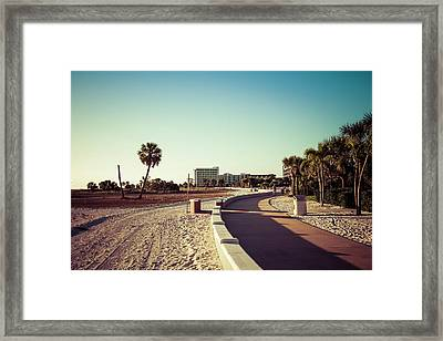 Framed Print featuring the photograph Treasure Island Beach Trail by Joel Witmeyer
