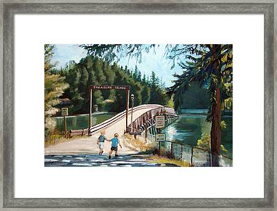 Treasure Island Framed Print by Synnove Pettersen