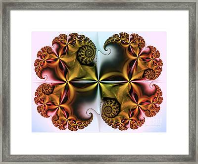 Framed Print featuring the digital art Treasure by Karin Kuhlmann