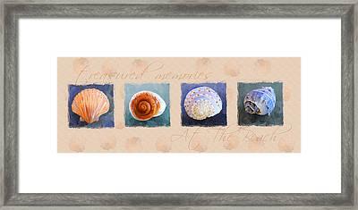 Treasured Memories Sea Shell Collection Framed Print by Jai Johnson