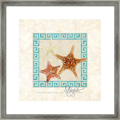 Treasures From The Sea - Starfish Trio Framed Print by Audrey Jeanne Roberts