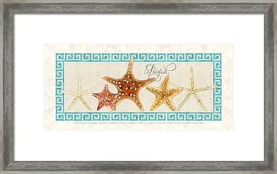 Treasures From The Sea - The Chorus Line Framed Print