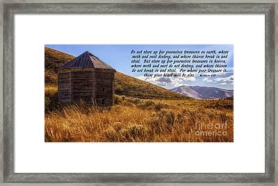 Treasures In Heaven Framed Print