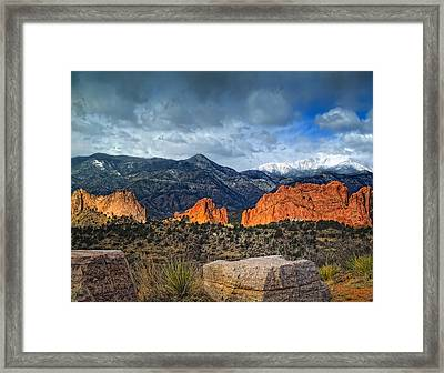 Treasures Of Colorado Springs Framed Print