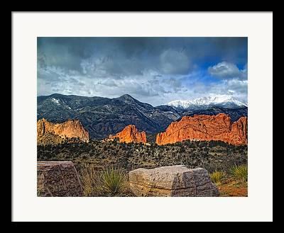 Colorado Springs Photographs Framed Prints