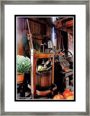 Treasures Of  Fall Framed Print by MaryLee Parker
