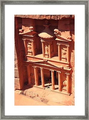 Treasury Of Petra Framed Print by Paul Cowan